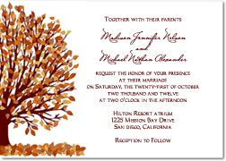 Free Wedding Invitations Templates To Print With Fall Trees