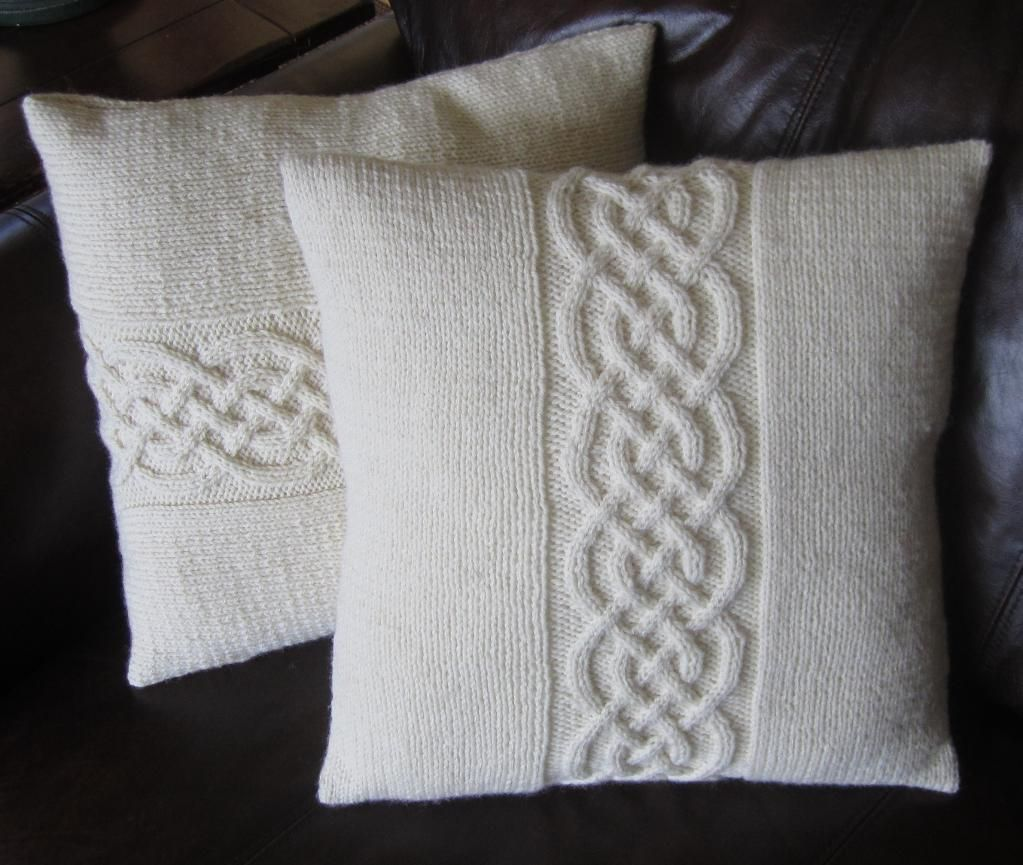 Knitting Pillow Pattern : Celtic knot pillow cover knots and