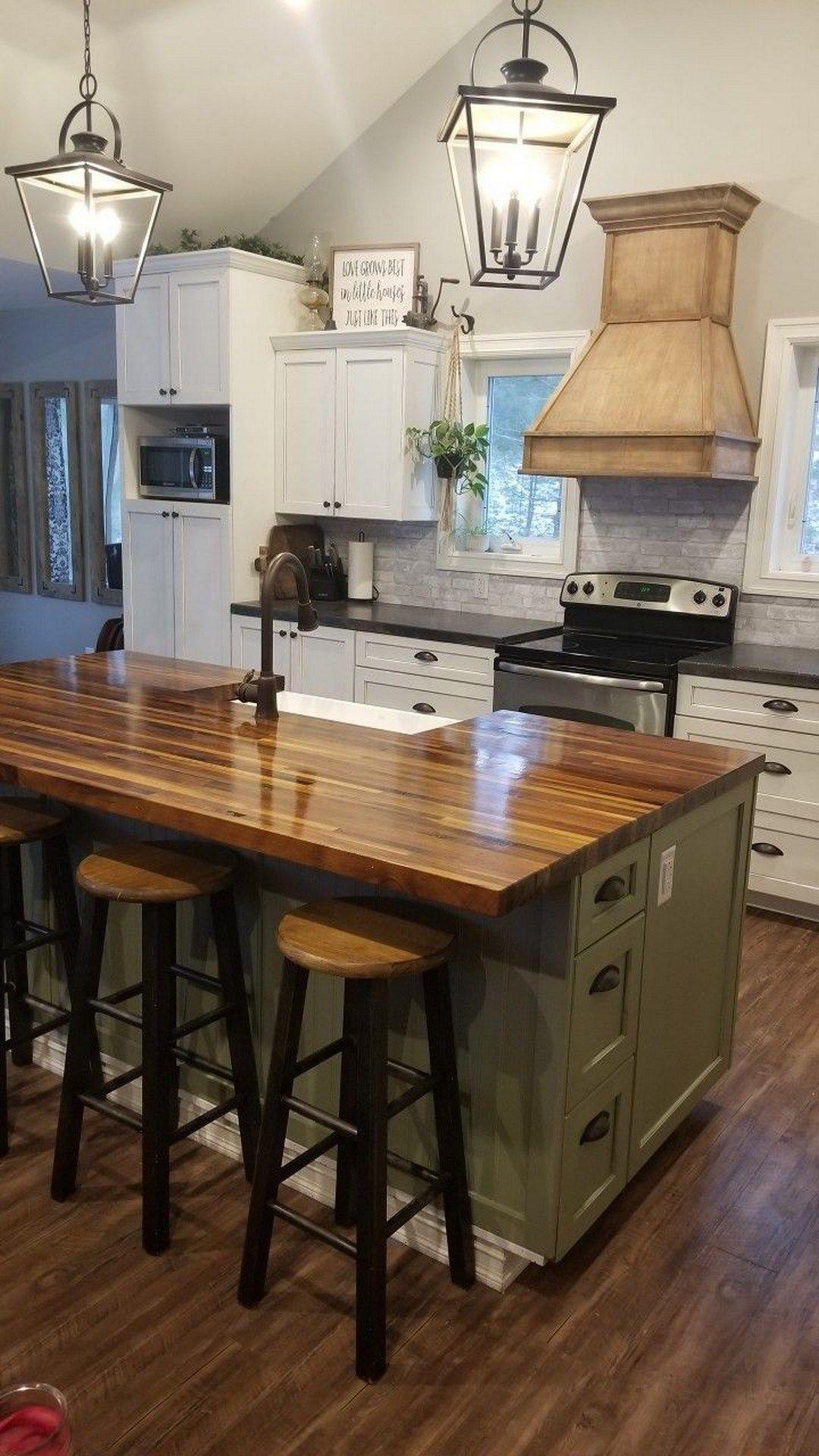 52 Farmhouse Sink Pros Cons Farmhouse Room In 2020 Kitchen Island With Sink Square Kitchen Layout Farmhouse Kitchen Island