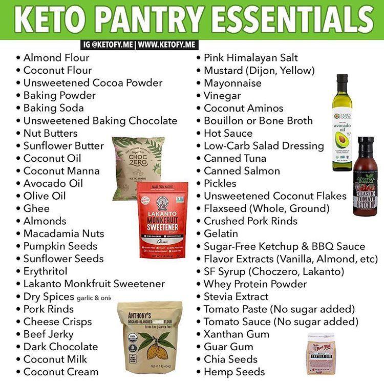 keto diet pantry list
