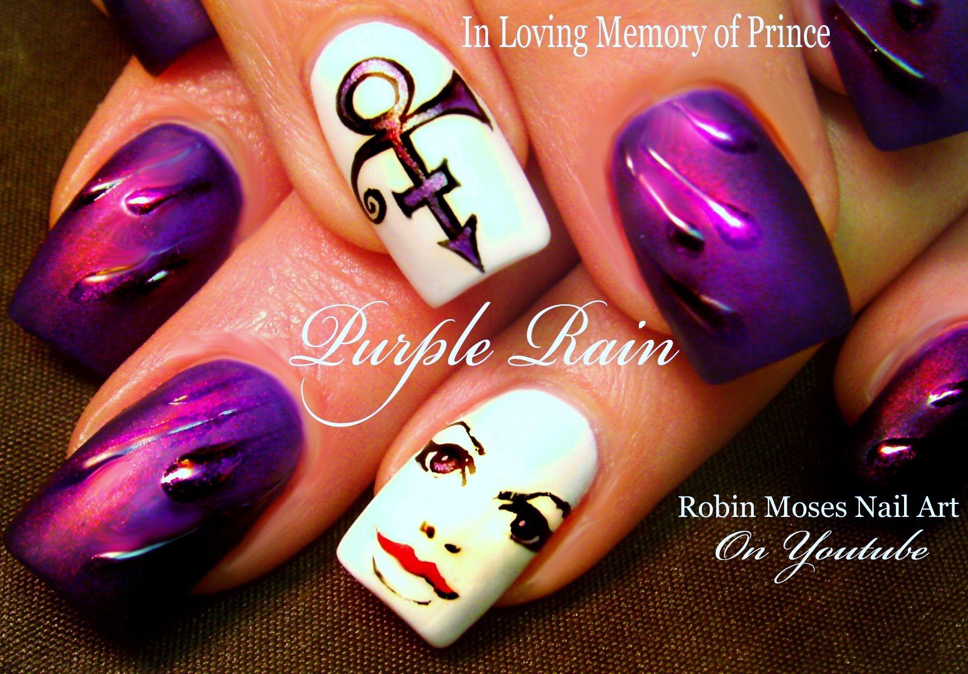 DIY Prince Nail Art Design | Purple Rain Nails Nail Tutorial | In ...