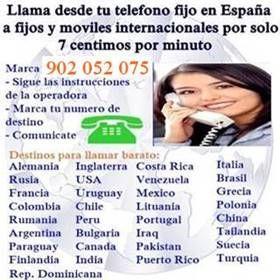 Dale un buen uso a tu linea telefonica fija, empleala para llamar a moviles del extranjero a un precio reducido