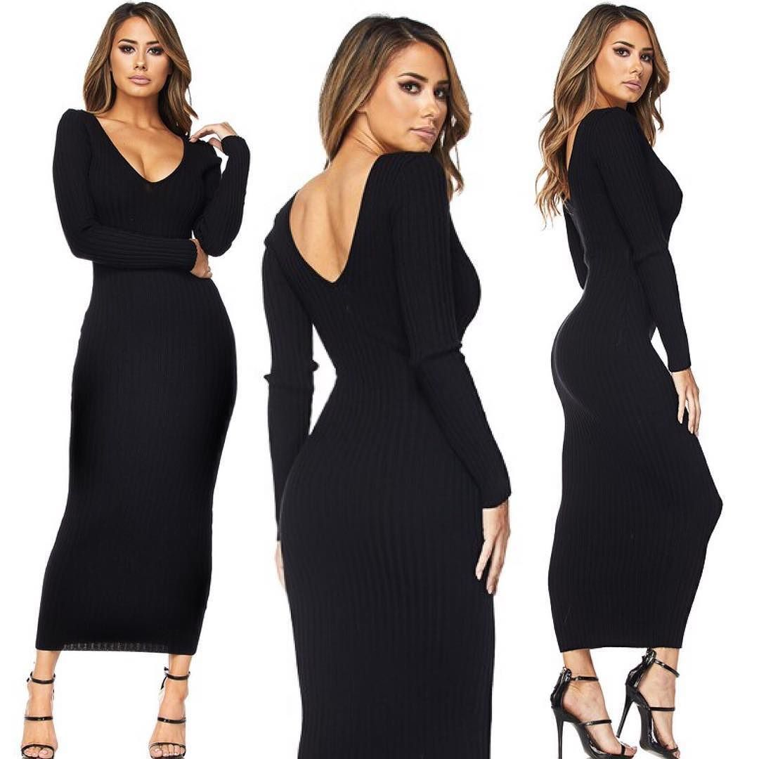 5702bfdfeb Per your request // The stunning Kenya ribbed sweater dress now in black  has arrived! Can also be worn off the shoulder #ootd #ribbeddress  #shopmarsia # ...