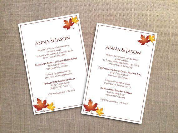 DIY Printable Wedding Invitation Card Template | Editable MS Word ...