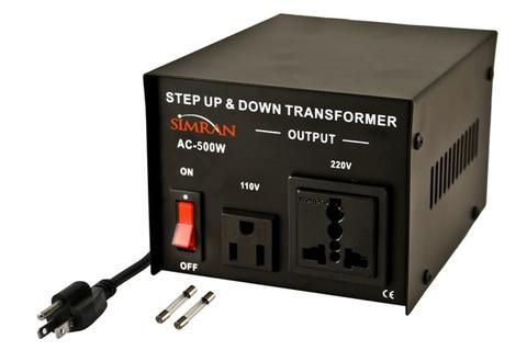 Simran Ac 500 Step Up Down Voltage Transformer 500 Watt Transformers Voltage Converter Electronics