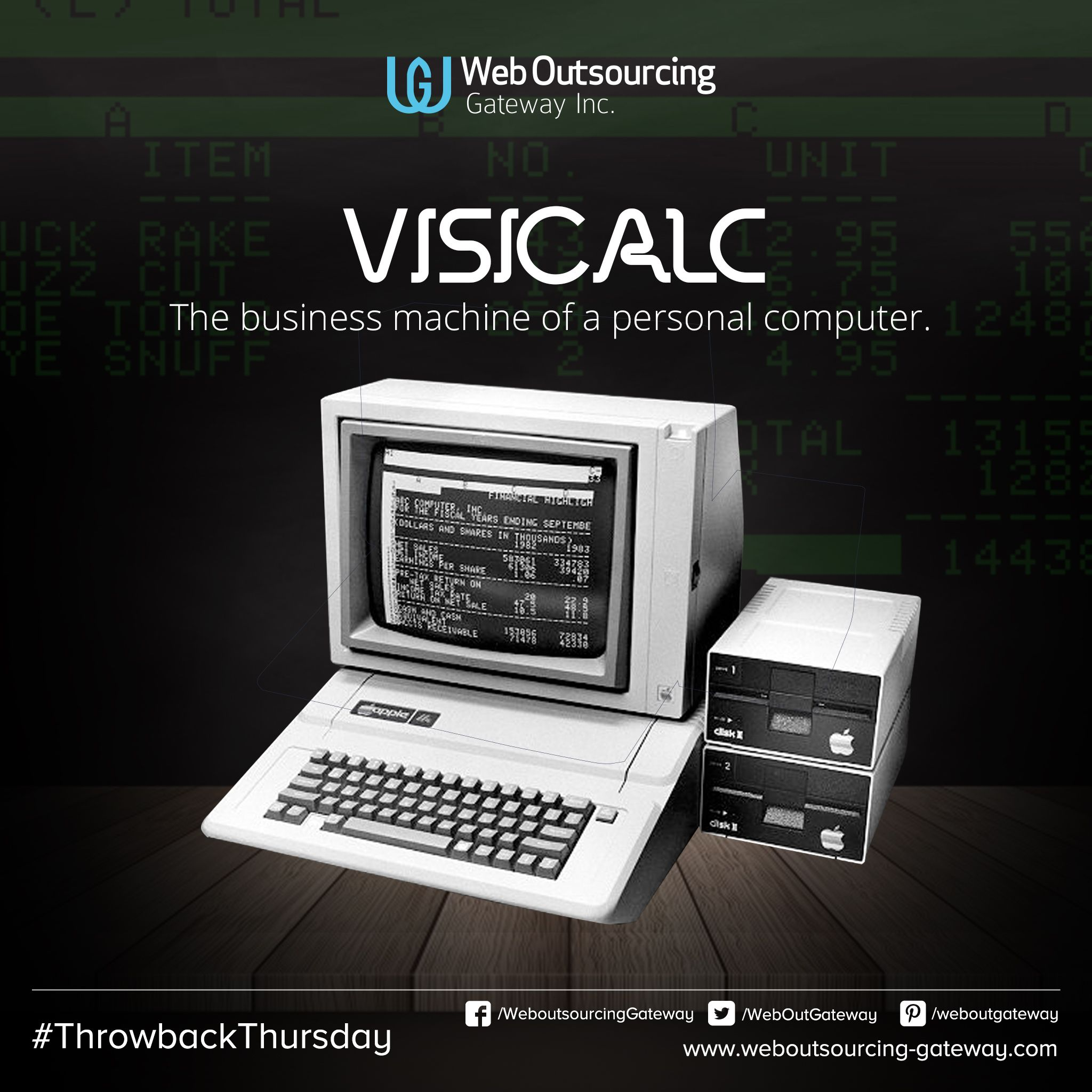 VisiCalc, the business machine of a personal computer