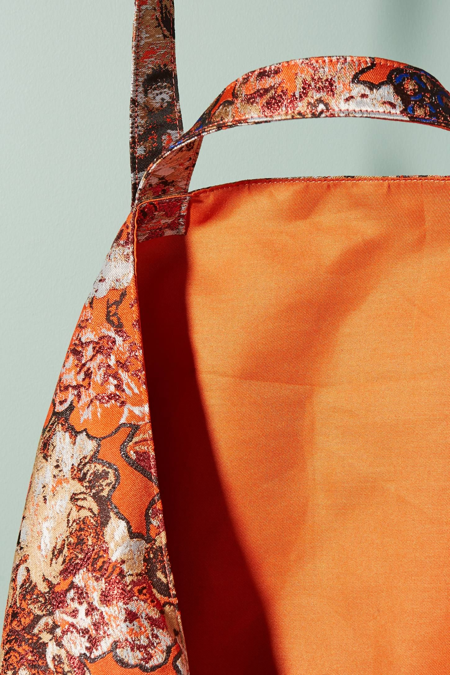 Floral Brocade Tote Floral, Detail, Shopping