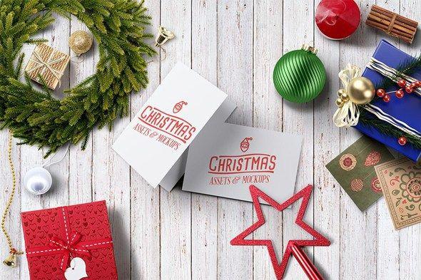 Free Christmas Hero Image Psd Mockup on Behance Wish card - christmas decors