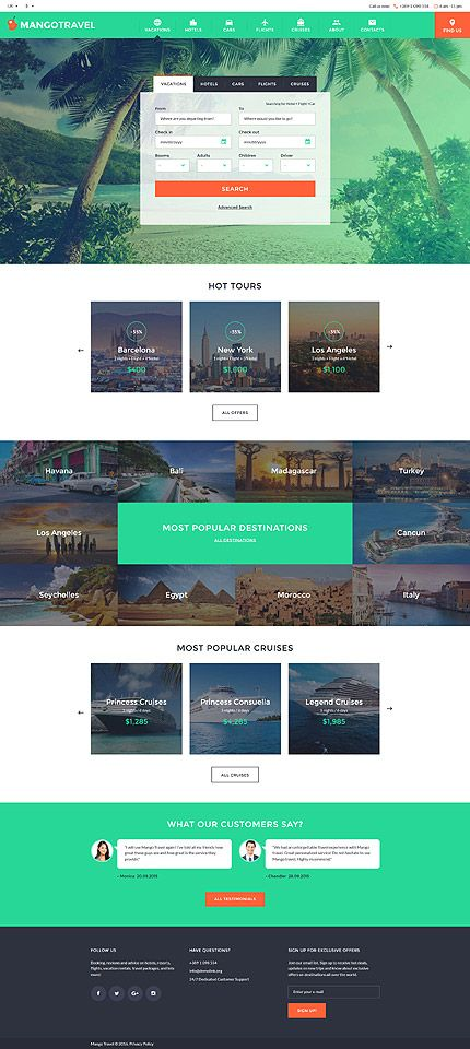 Website Template Travel Responsive Website Template  Travel Agency Website