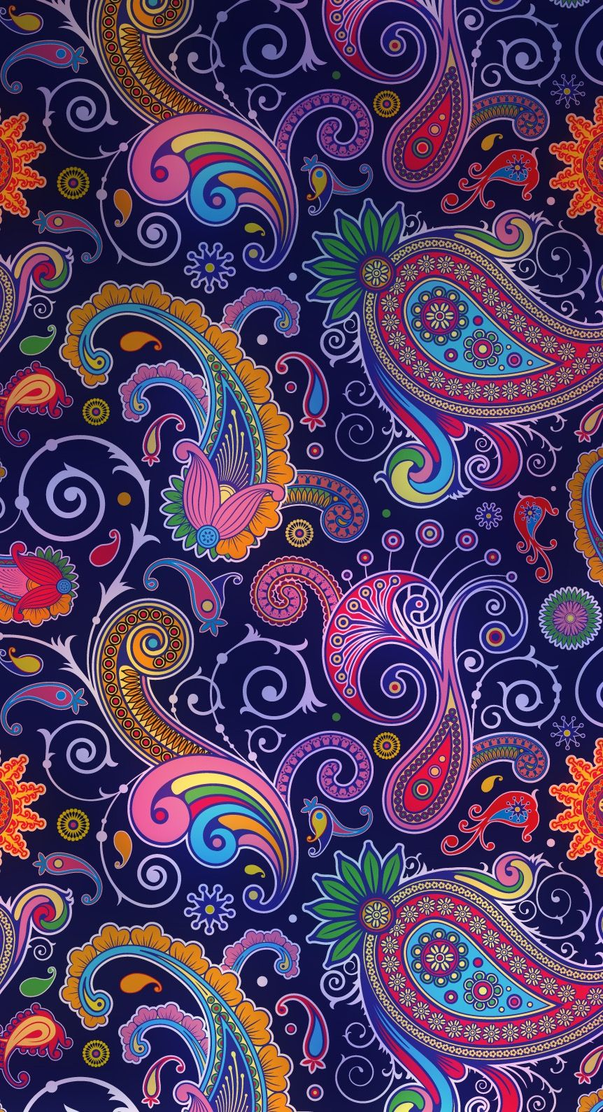 Mad for Mod Paisley | paisley in 2019 | Paisley wallpaper, Paisley art, Pattern wallpaper