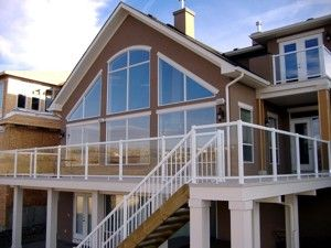 aluminum deck railing home depot view many deck railing ideas
