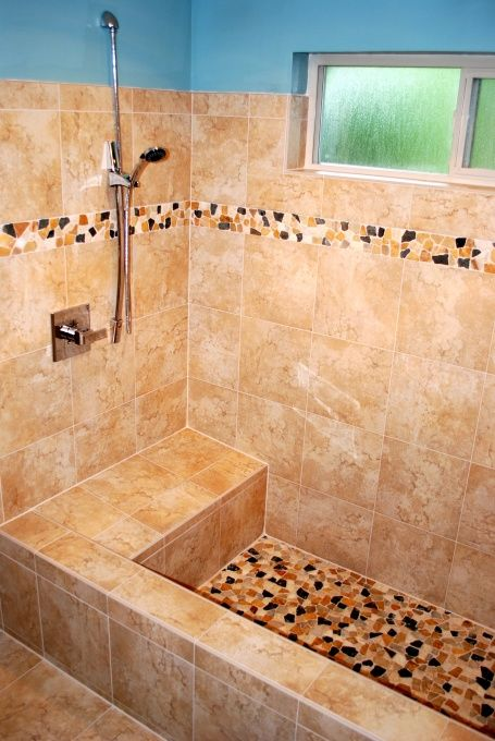 Roman Shower Ideas | tranquil tiled roman tub , We had a small stand ...