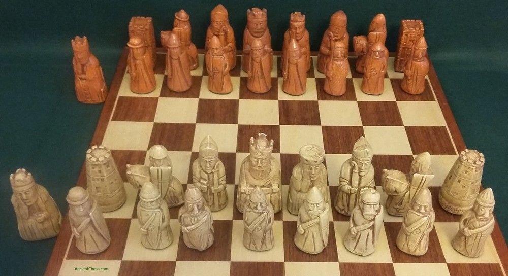 Isle Of Lewis Chess Men Each Figure Unique 4q S Castle Rooks Set Maple 852 Lewis Rook Chess Board