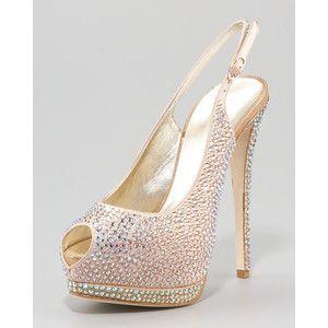 Guiseppe Zanotti Crystallized Platform Slingback Wedding Shoes Shoesslingbackszanotti Shoesp Toe