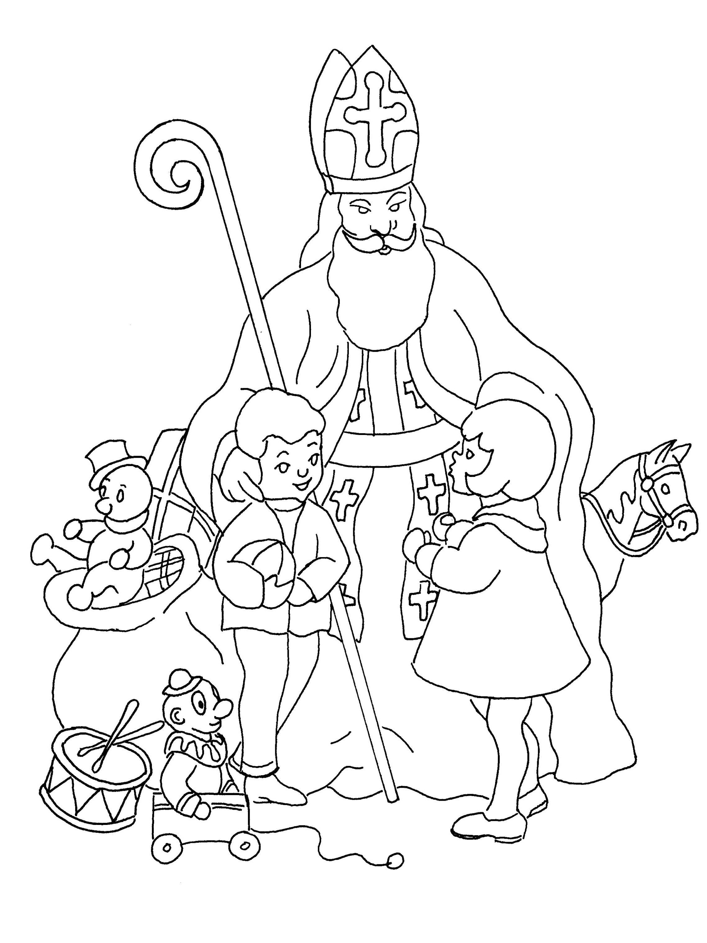 Mikulas Nadeluje St Nicholas Day Saint Nicholas Coloring Pages