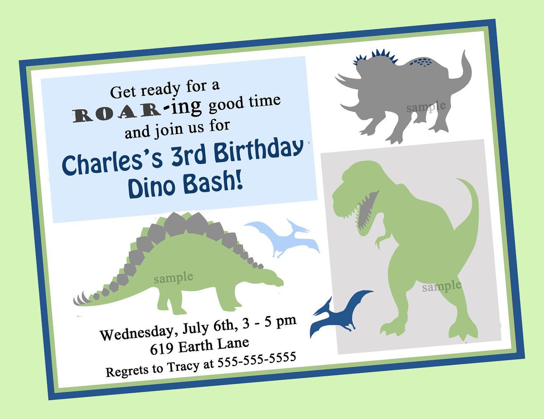 Dinosaur Birthday Favor Tags or Cupcake Topper Printable. $8.00, via ...