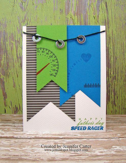 Speed Racer Card 2 by JenDCarter, via Flickr