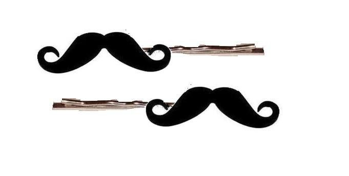 Mustache Bobby Pins By Little Angels Jewelry Moustache Hair Clips Beard No Mustache