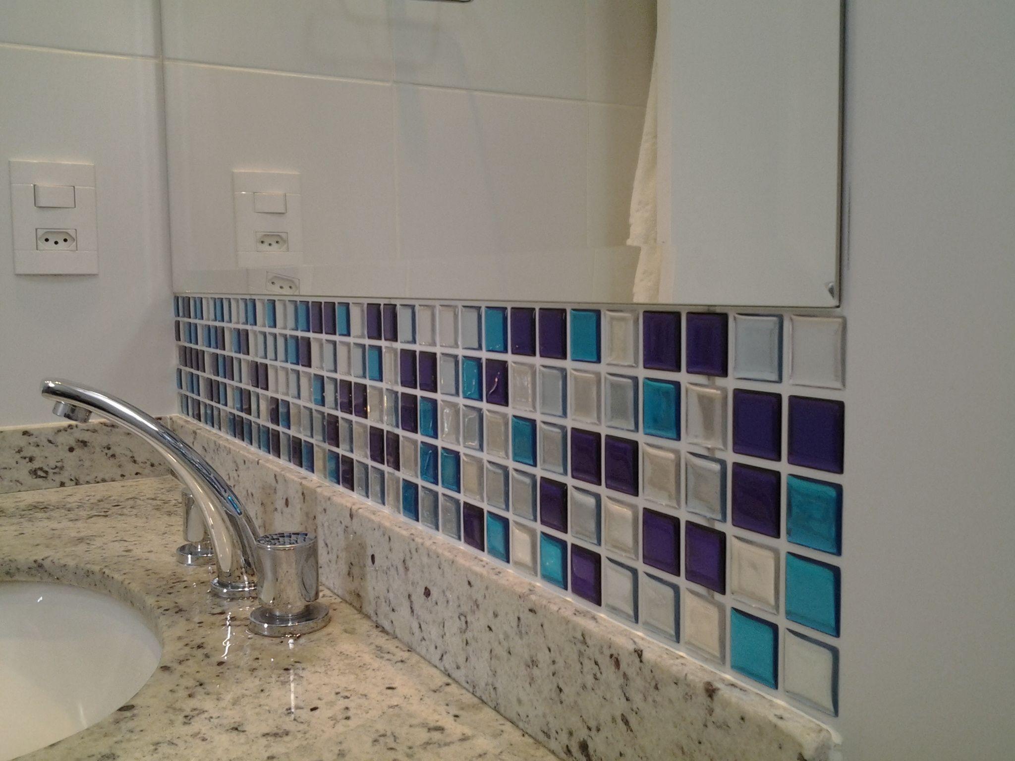 Ideas For Home Decoration Bathroom Decor Decocaracao Casa #2C6471 2048x1536 Banheiro Com Pastilhas Adesivas