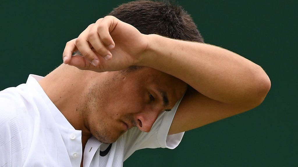 """Bernard Tomic amazed at career, despite lack of effort at times https://tmbw.news/bernard-tomic-amazed-at-career-despite-lack-of-effort-at-times  Bernard Tomic says he has never """"really tried"""" throughout his tennis career, adding that he has probably been operating at """"around 50%"""".The Australian claimed he was bored during his straight-set defeat by Mischa Zverev at Wimbledon on 4 July.A series of lacklustre displays has seen the 24-year-old drop from 17 in the world last year to 73.""""Tennis chose me. It's something I never fell in love with,"""" Tomic told Australia's Channel Seven.""""Throughout my career I've given 100%. I've given also 30%. But if you balance it out, I think all my career's been around 50%.""""I haven't really tried, and still achieved all this. So it's just amazing what I've done.""""'I'm trapped and I have to do it'Tomic has won three ATP Tour titles and has earned almost £4m in career prize money, including £35,000 for his defeat by Zverev.However, he has not won a tour title since 2015 and has struggled for form this year, winning just nine matches overall and losing in the first rounds at the French Open...Read more on TmBW.News"""