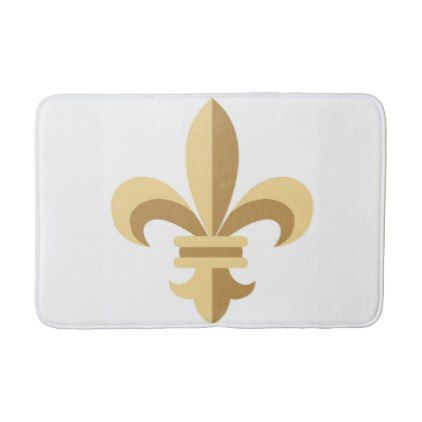 Fleur De Lis Bath Mat Bathroom Accessories Home Living