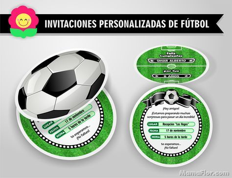 Tarjeta De Cumpleaños De Fútbol Invitaciones En Forma De Pelota Fiesta Calcio Inviti