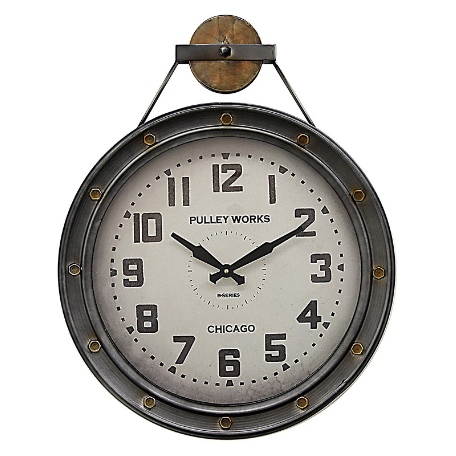 Three Hands Metal Industrial 21 In Wall Clock Wall Clock Metal Wall Clock Oversized Wall Clock