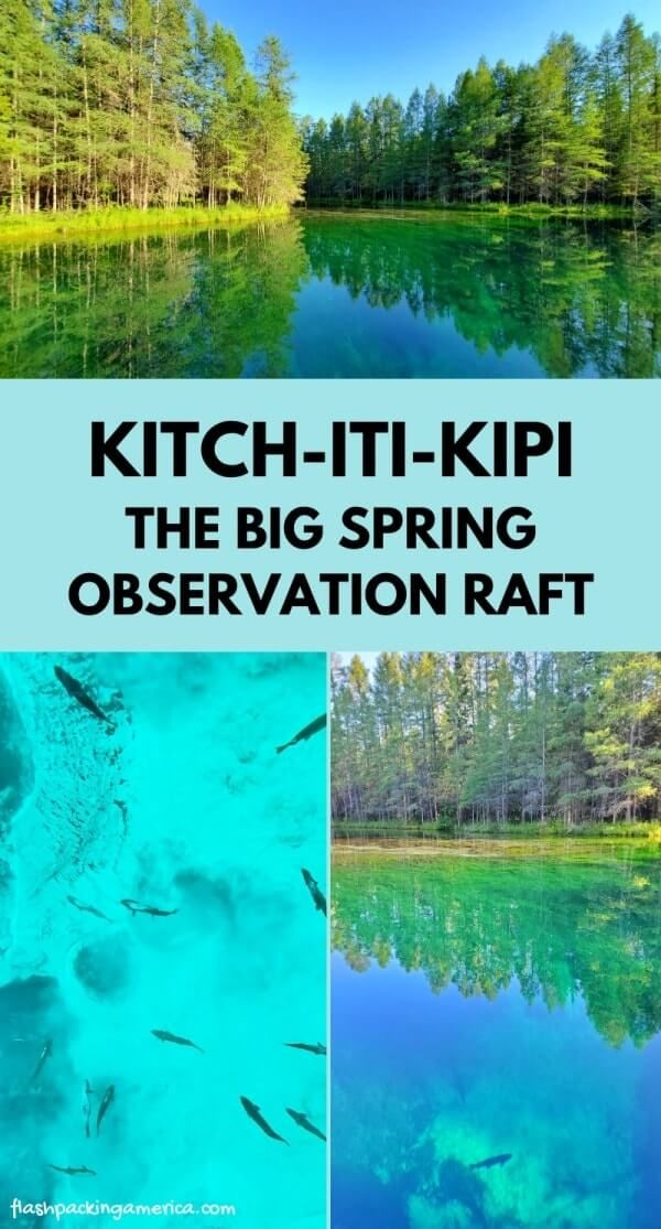 Kitch-iti-kipi PHOTOS raft on the Big Spring in Palms Book State Park 🌳 UP Michigan travel blog | Flashpacking America
