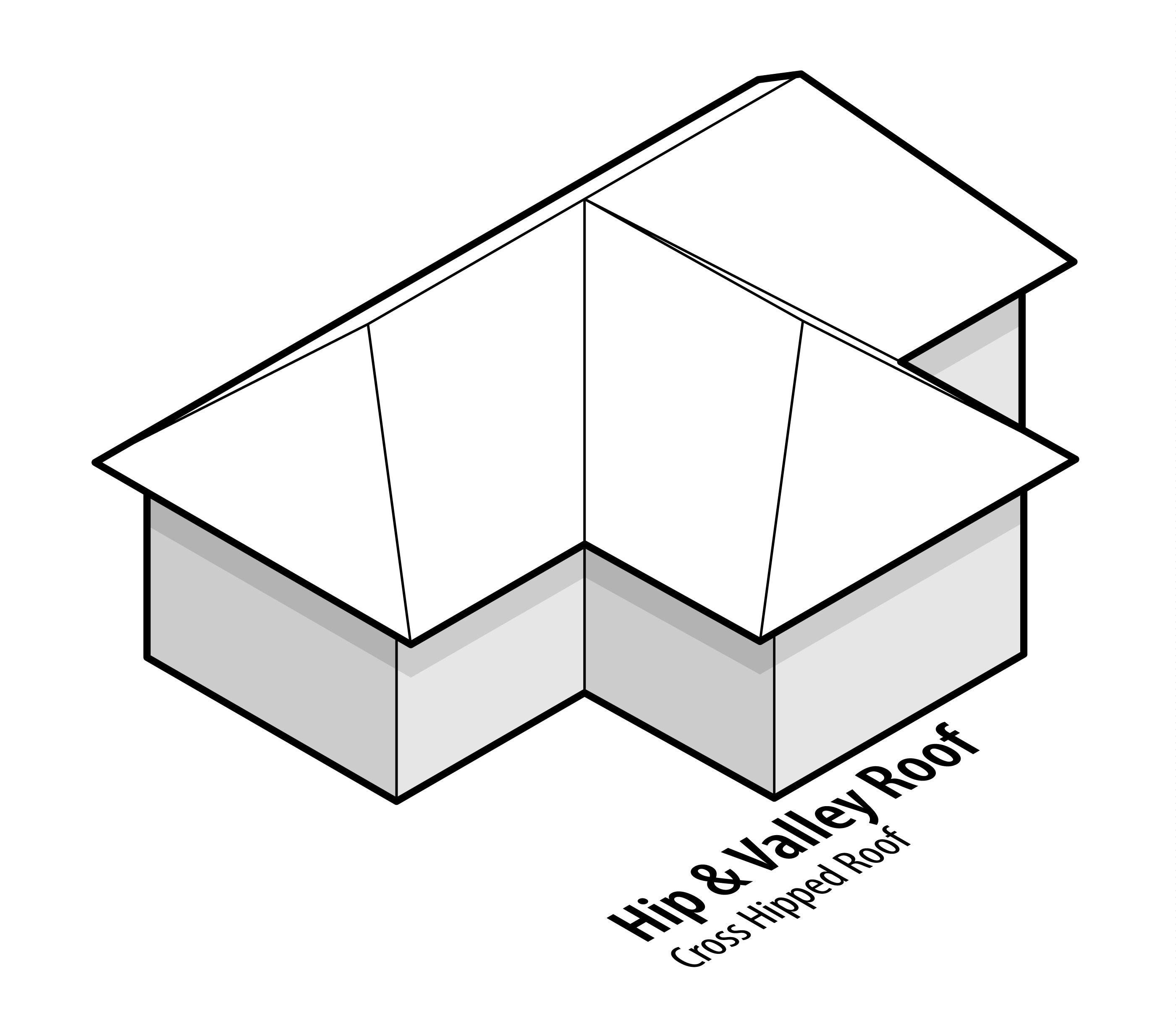 Hufte Tal Dach Kreuz Walmdach Roof Design Hip Roof Hip Roof Design