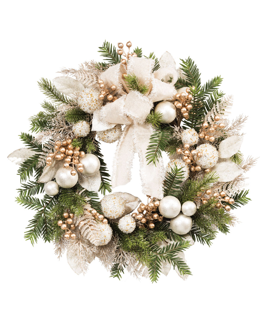 Pearl Gold Elegance24 Artificial Holiday Wreath Christmas Wreaths Diy Holiday Wreaths Wreath Wall Art