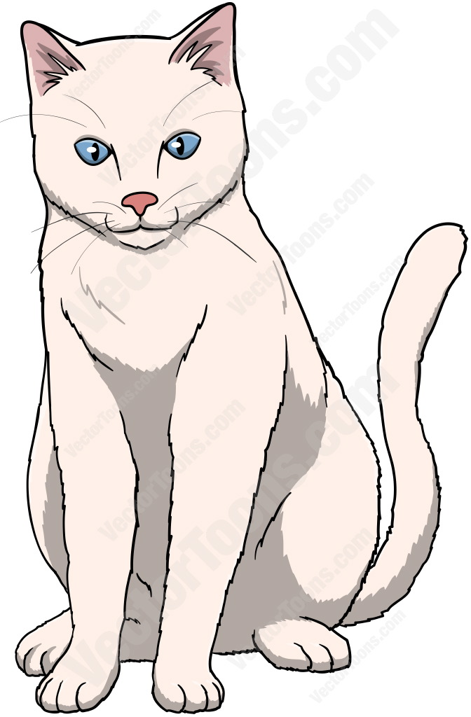 Cat Sitting Cartoon Google Search In 2020 Cat With Blue Eyes Cat Illustration Cat Drawing