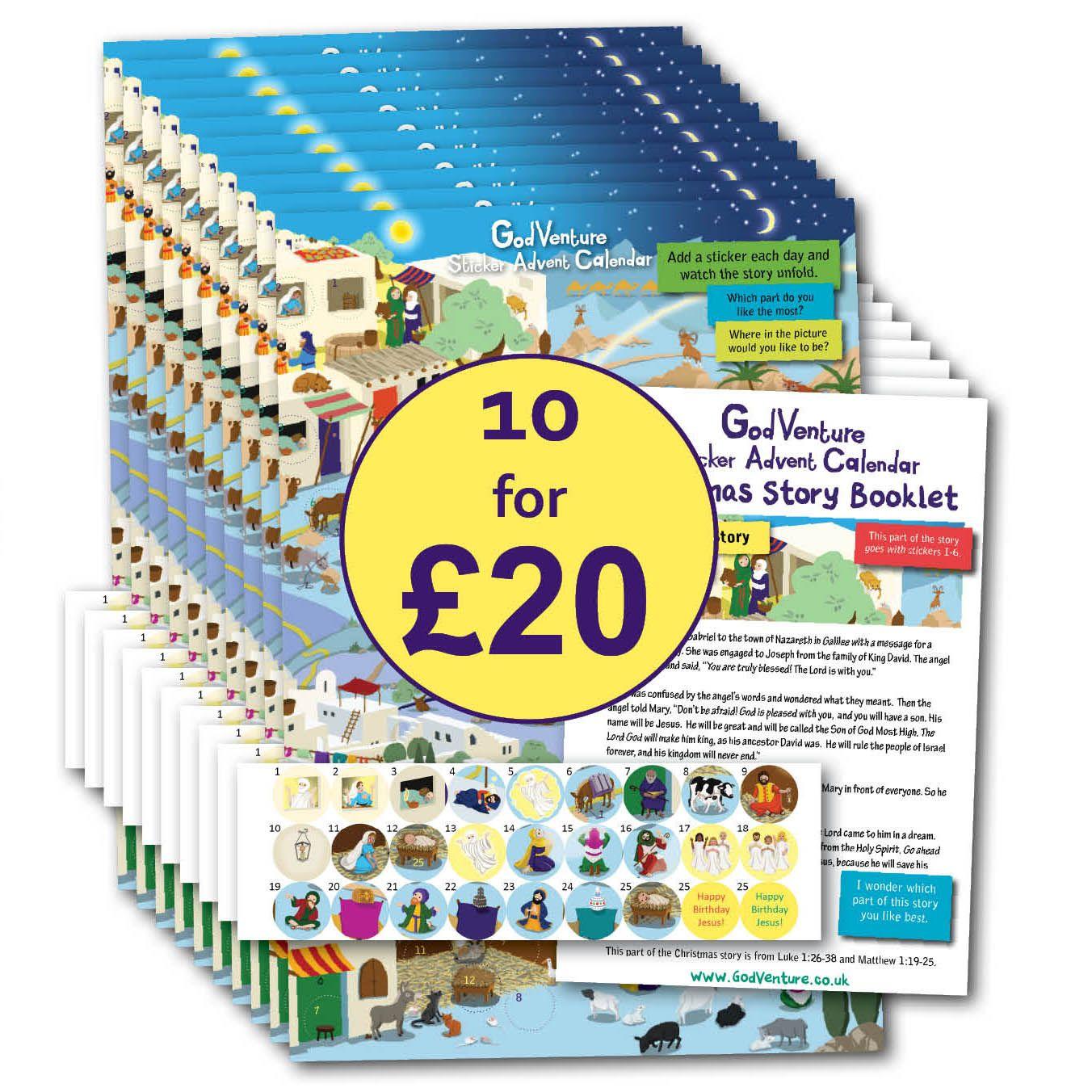 Godventure Sticker Advent Calendar 10 For 20