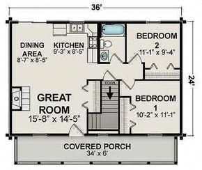 Ranch home plan sq ft also scale floor style open rh pinterest