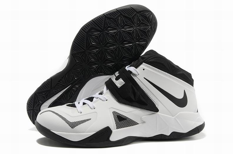 Buy Nike Zoom Lebron James Soldier 7 White Black Metallic Silver New  Arrival from Reliable Nike Zoom Lebron James Soldier 7 White Black Metallic  Silver New ...