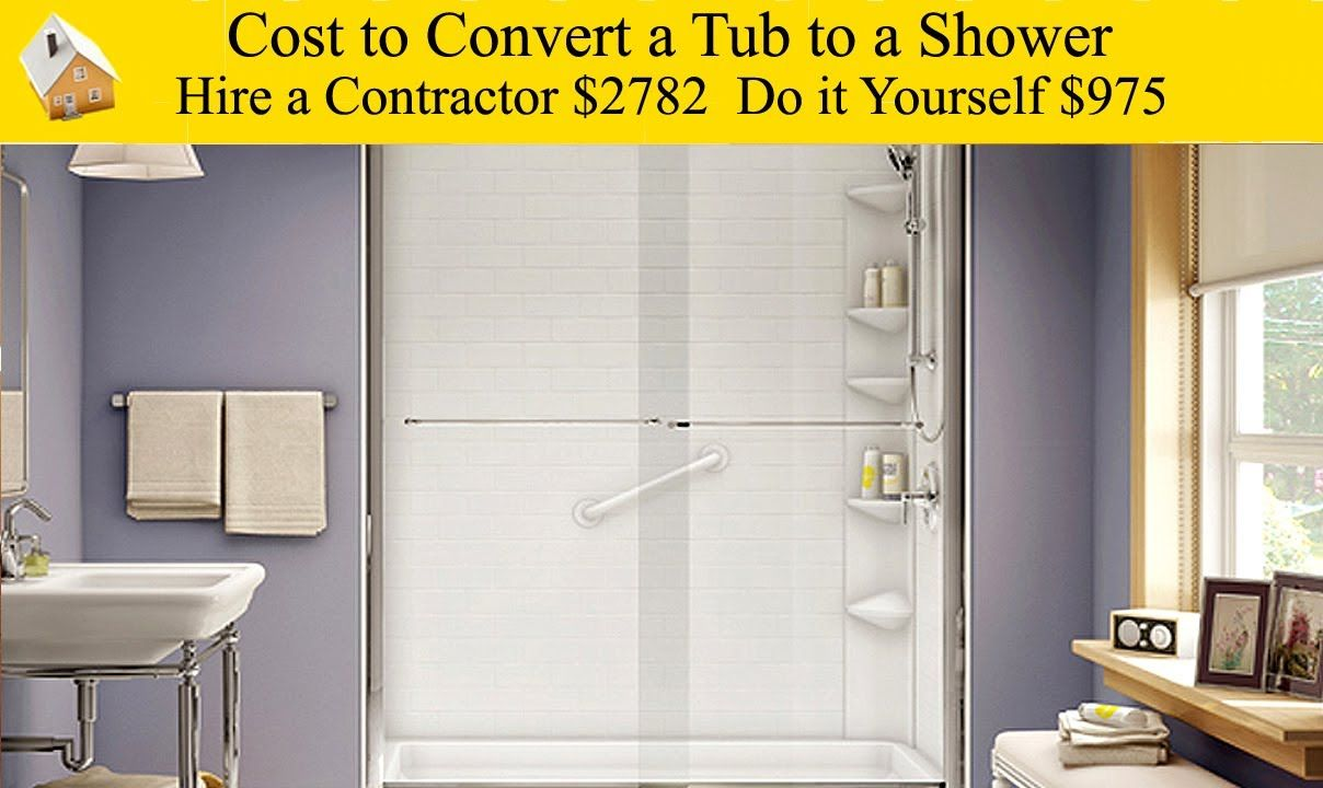 Cost to Convert a Tub to a Shower - Make an unused bathtub a shower ...