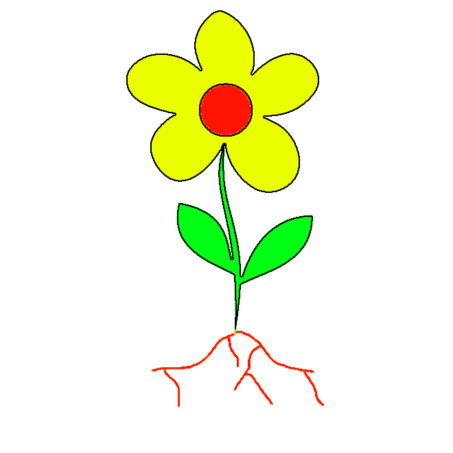 label this flower 39 s parts moumi pinterest technology