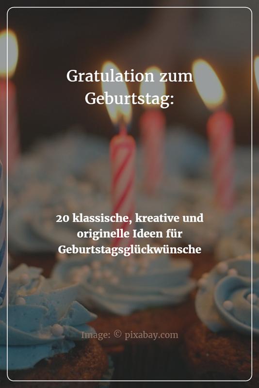 Gratulation Zum 20. Geburtstag
