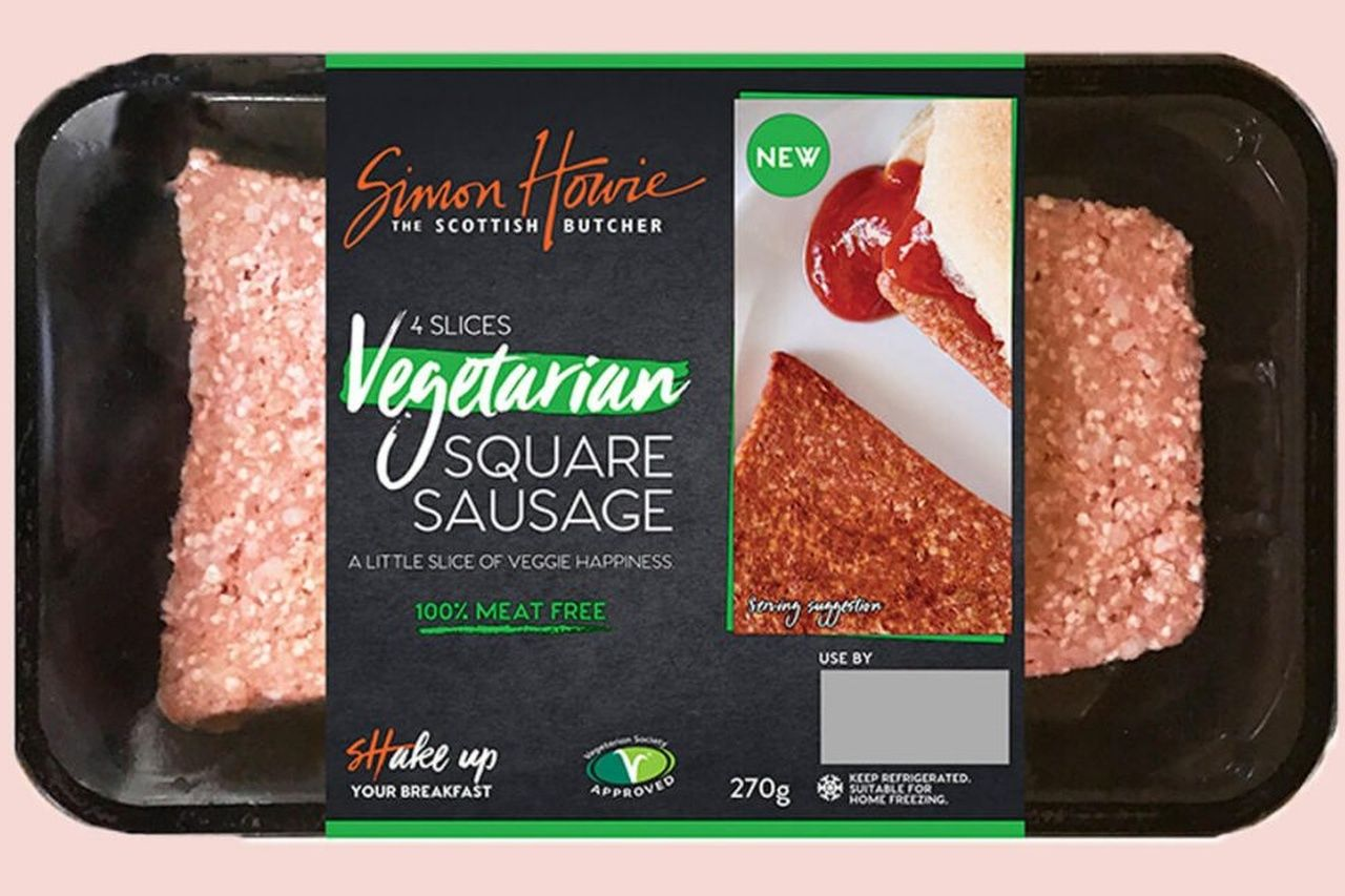 vegan square scottish breakfast sausage now available in morrisons and aldi scottish breakfast vegan supermarket sausage breakfast vegan square scottish breakfast sausage
