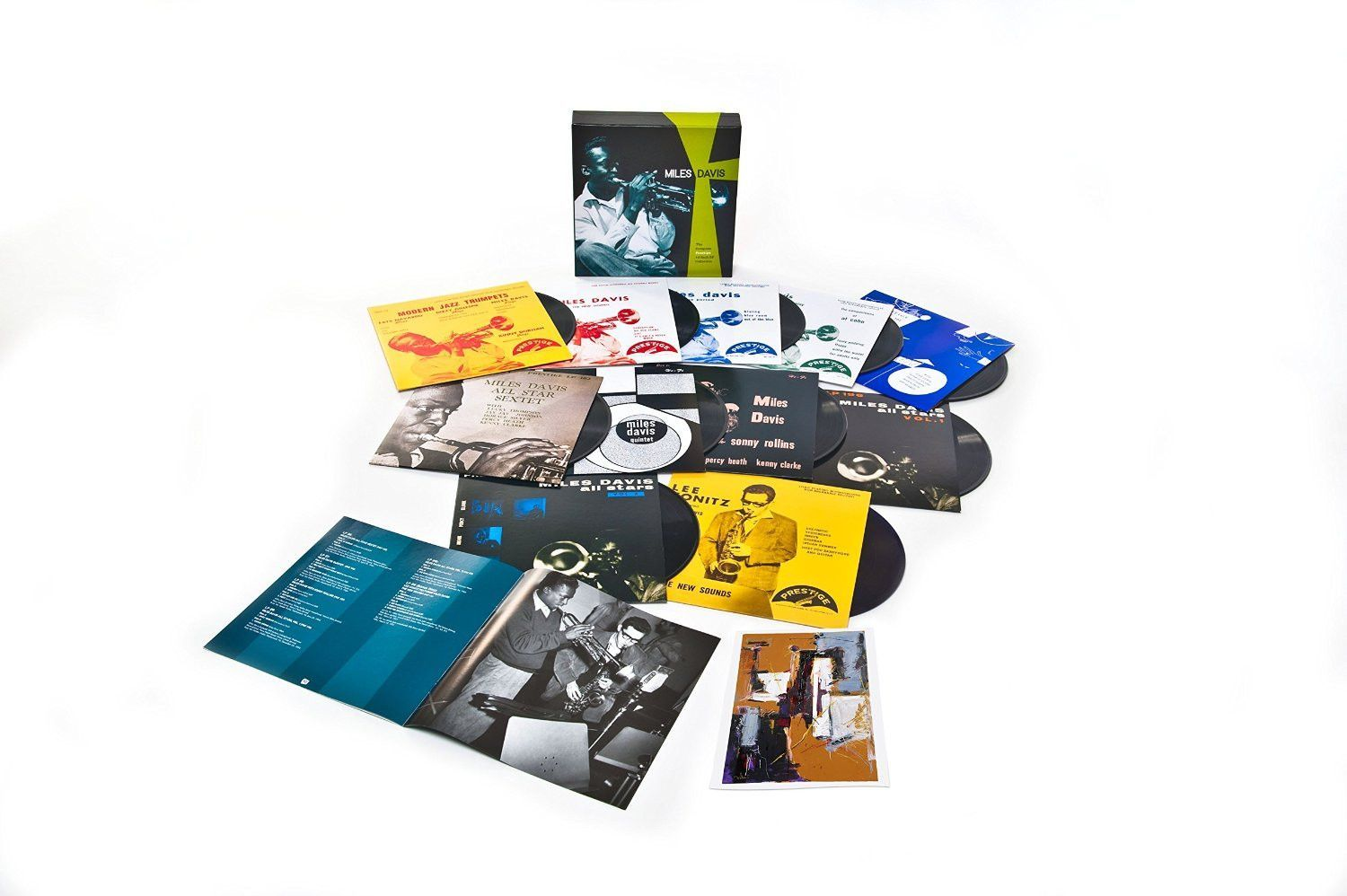 """Miles Davis - The Complete Prestige 10-Inch LP Collection on Limited Edition 11 x 10"""" Vinyl Box Set May 13 2016"""