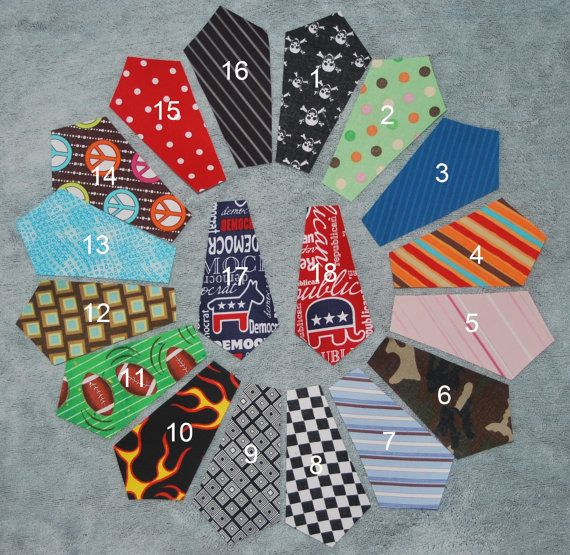 Iron on ties for onesies. 3 for $5!