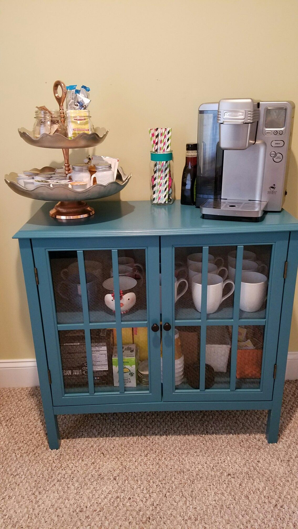 Coffee Station Target Windham Collection Cabinet 2 Tier Shelf  # Bienes Muebles Rae