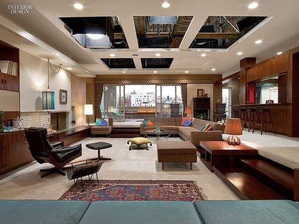 El diseño interior de Mad men Favorite Places  Spaces Pinterest - diseo de interiores de departamentos
