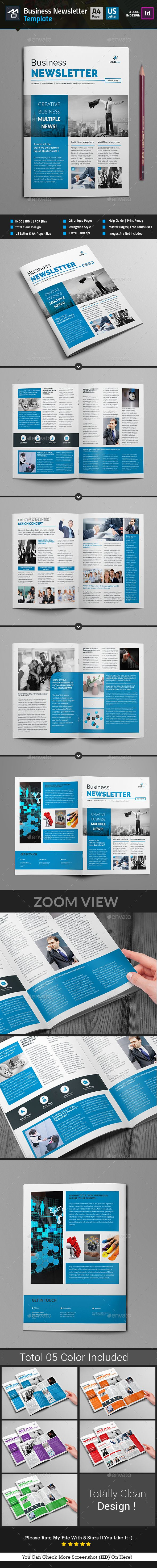 Newsletter For Corporate Business  Pages  Corporate Business