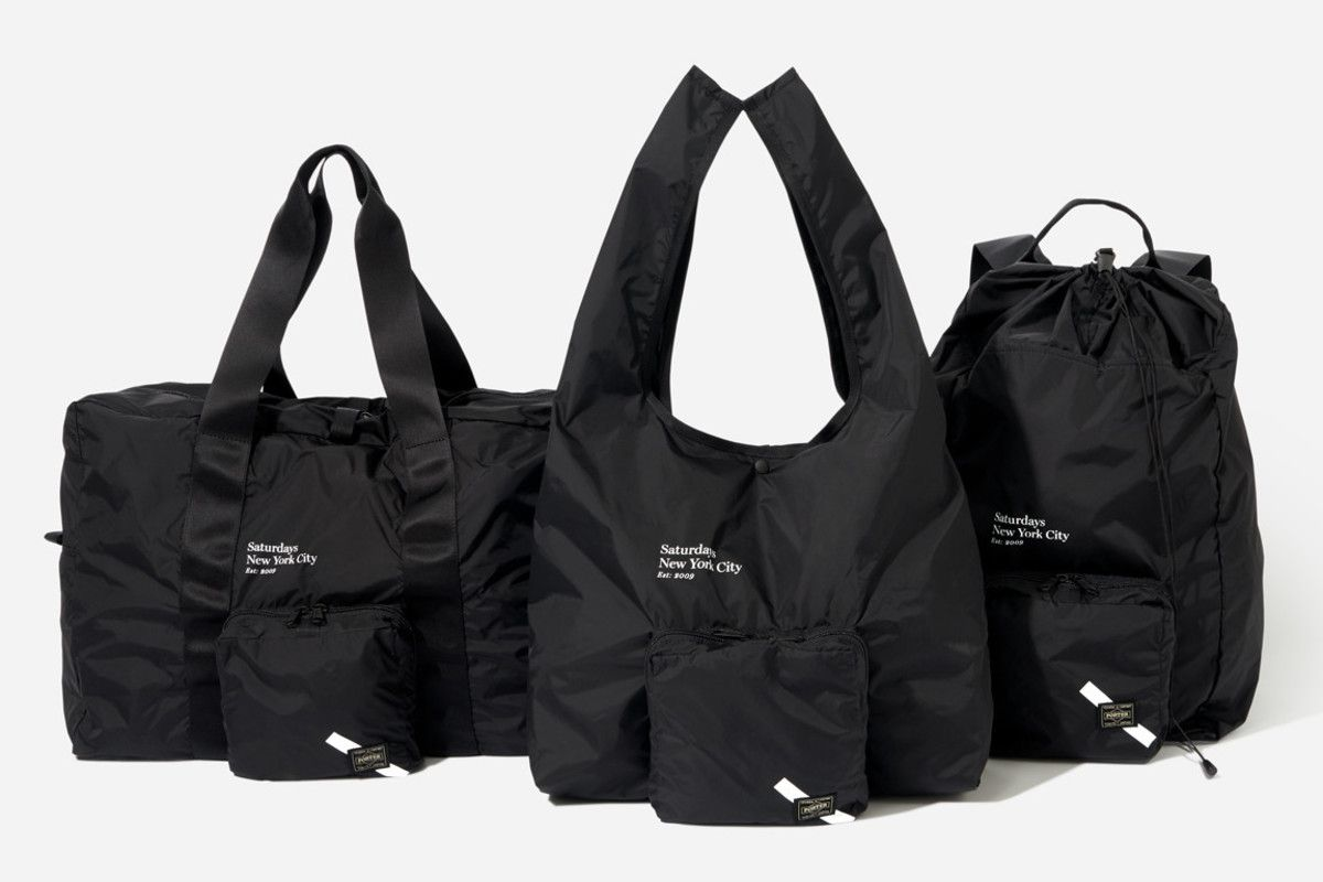 89631a155 Saturdays NYC and Porter Debut a Collection of Packable Bags ...