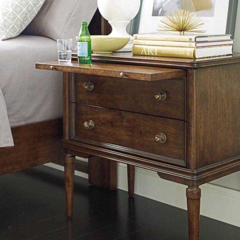 Stanley Furniture Vintage 2 Drawer Nightstand Www Hayneedle Com
