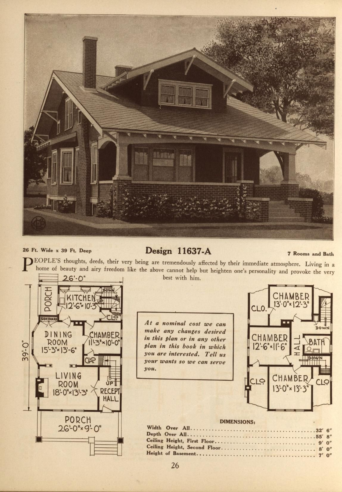 Deyos book of homes craftsman house plans craftsman