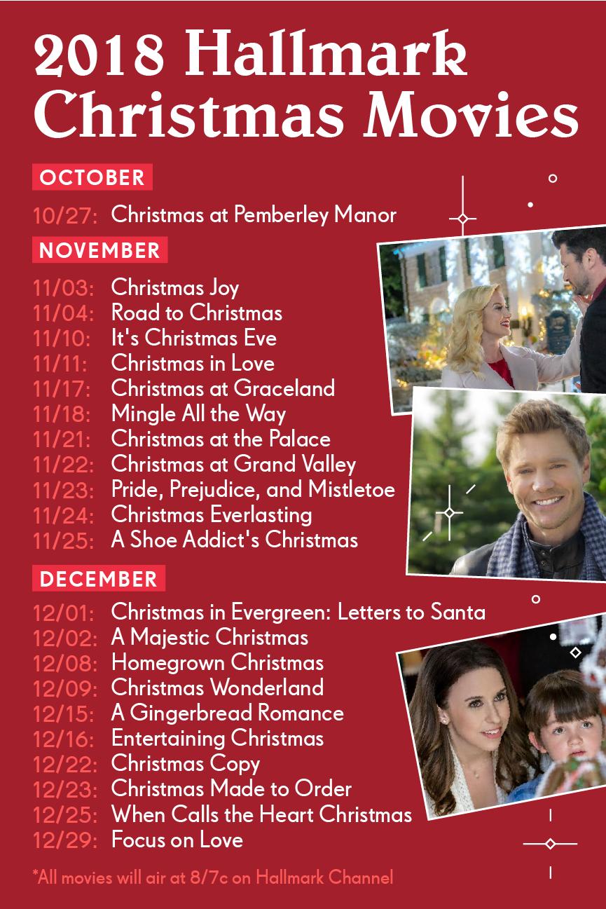 Hallmark Countdown To Christmas 2018 Lineup Hallmark Channel Christmas Movies Hallmark Christmas Movies Hallmark Christmas Movies List