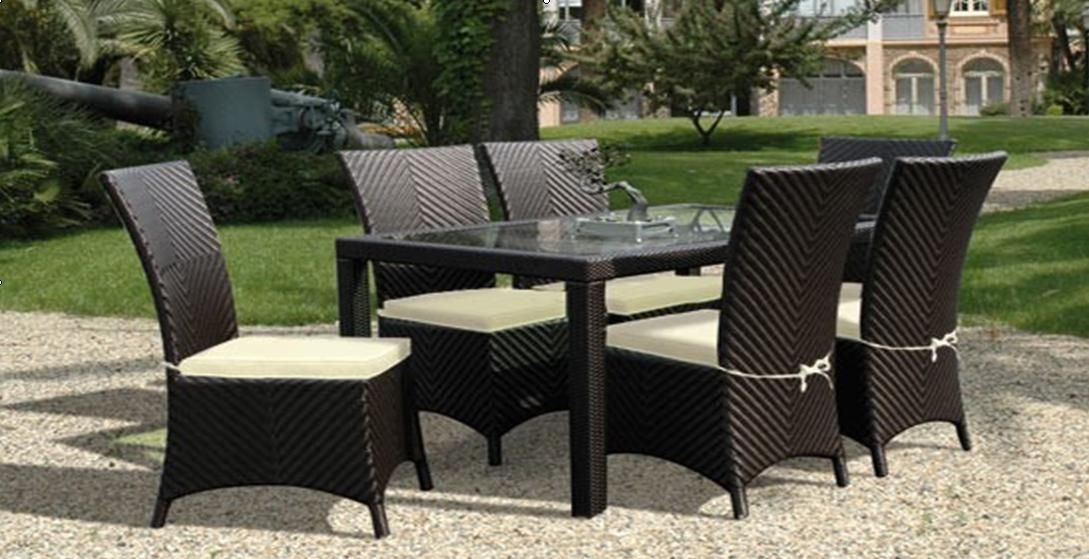 Wicker Chairs Synthetic Rattan Furniture Dining Set Rd