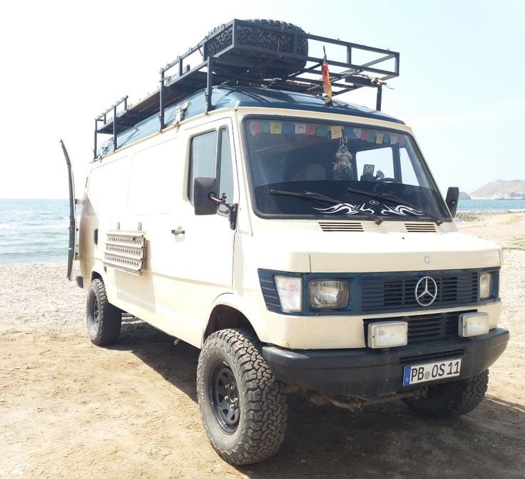 Our Mercedes T1 310d 4 4 From Iglhaut At The Beach In South Of Spain Allrad Wohnmobil Wohnmobil Bus 4x4 Wohnmobil