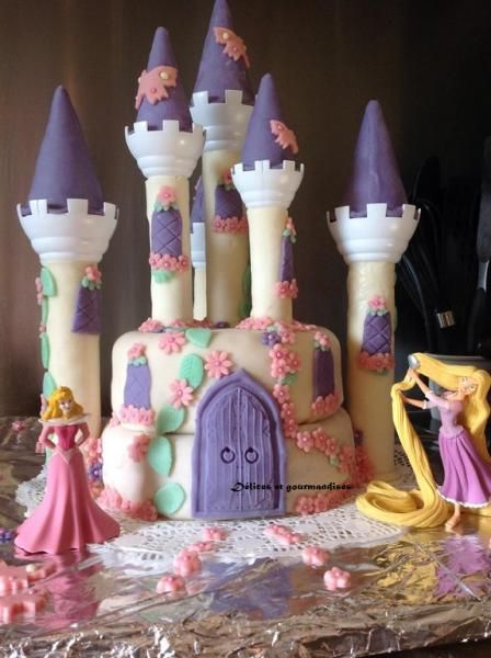 G teau chateau de princesse gateau tutoriel pas pas for Image chateau princesse